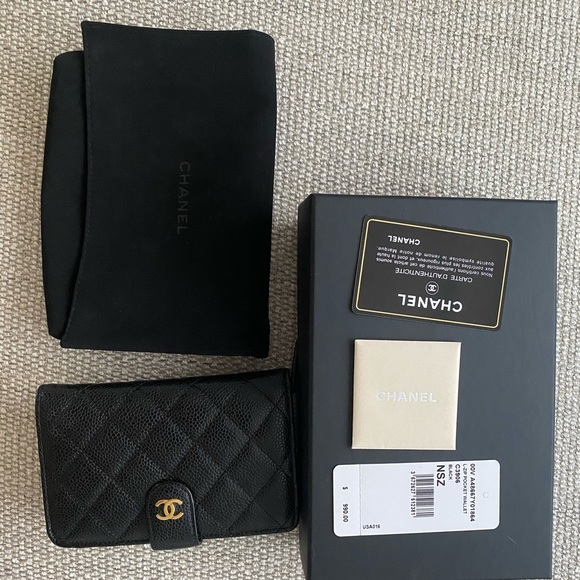CHANEL Handbags - Chanel wallet black caviar, new with tags